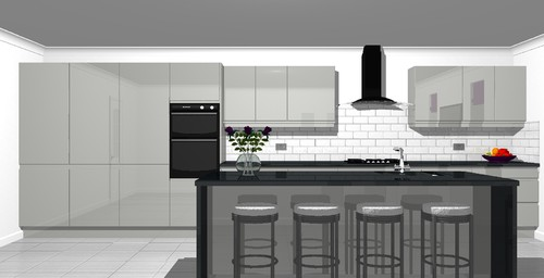 Is a 6 metre run of kitchen too long for Kitchen design 6m x 3m