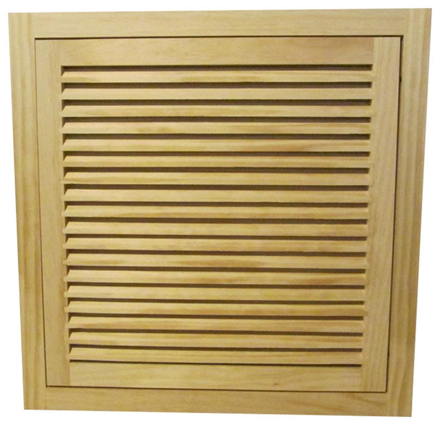 Wood Return Air Filter Grille, 20x20, Standard Square Edge.