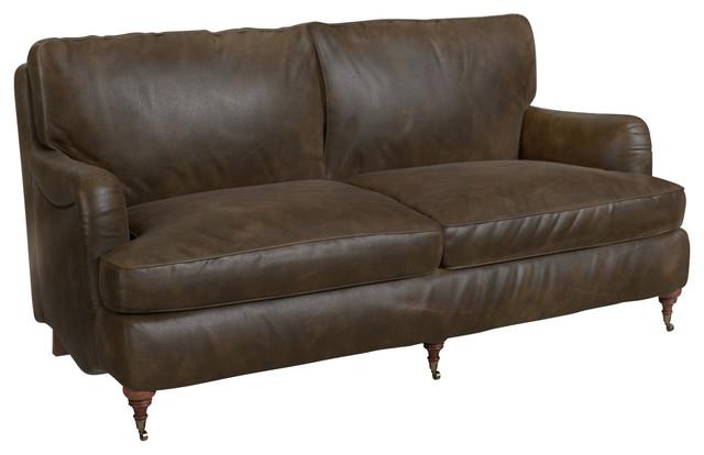 Brits Sofa, Walnut Leather.