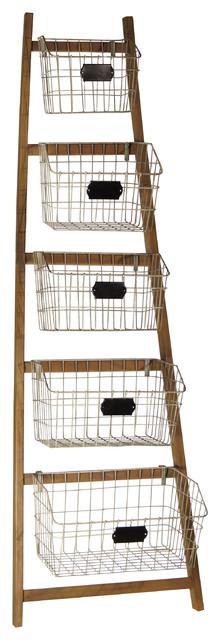 5-Bin Metal Storage Rack.