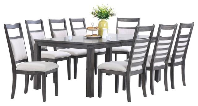 Shades Of Gray 9-Piece Dining Set.