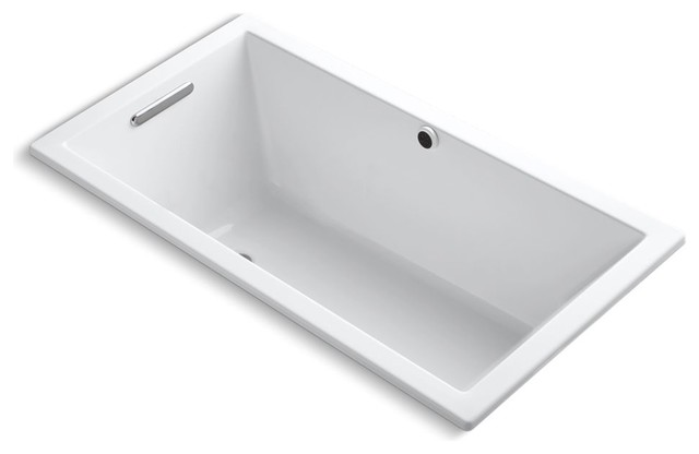 """Underscore 60""""x32"""" Drop-In Bath With Bask Heated Surface, White."""