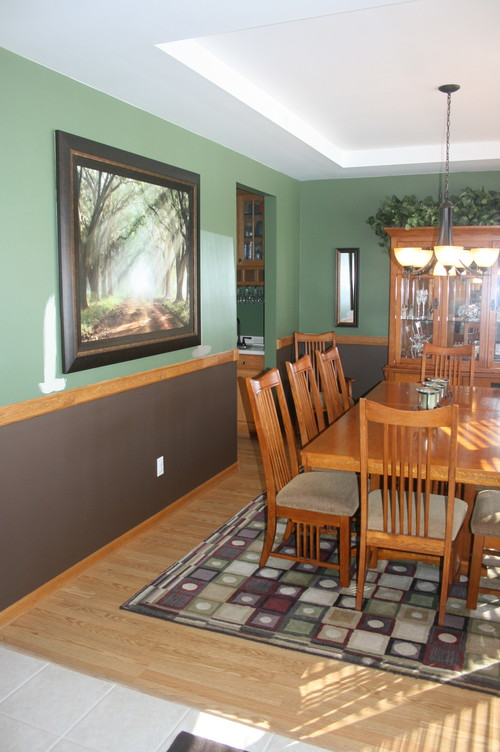 i have dark brown on my office walls therefore i think the brown walls and dark brown floor wont look right should i also re paint the office - Dining Room Paint Colors Dark Wood Trim