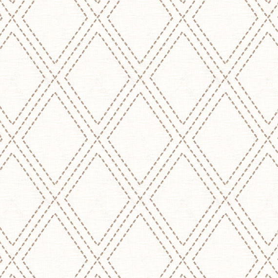 Trellis Fabric gray stitched diamond trellis fabric - contemporary - drapery
