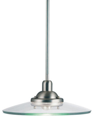 Kichler 2643ni Galaxie 1 Light Indoor Pendant With Round Glass Shade.