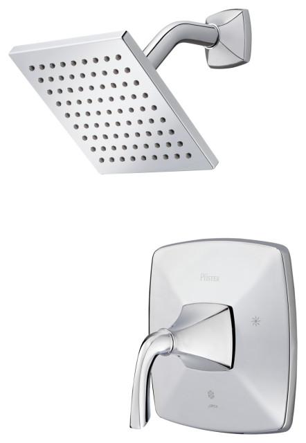 Bronson 1-Handle Shower Only Trim, Polished Chrome
