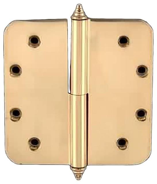 "Brass Lift Off Left Door Hinge 5"" Radius Decor Tip - Modern - Home Improvement - by Renovator's ..."