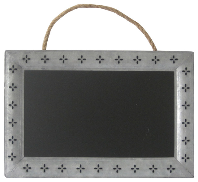 Cheungs Home Decorative Rectangular Chalk Board With Galvanized Metal Frame Farmhouse Bulletin Boards