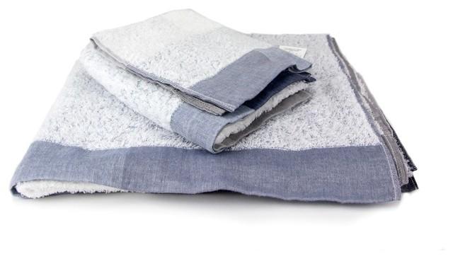 Kontex Palette Towels Blue Gray Wash Cloth