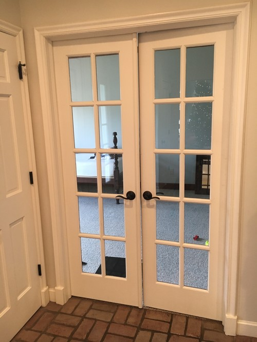 Window Film On French Doors For Privacy