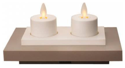 Luminara Rechargeable Tea Lights Set Of 4 With Base