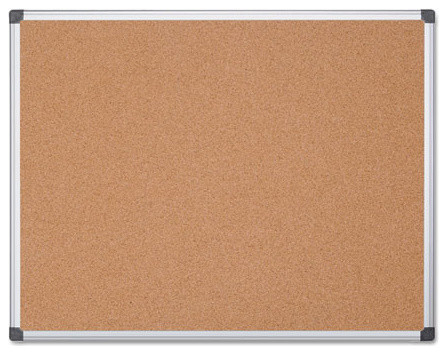 "Mastervision Value Cork Bulletin Board With Aluminum Frame, 48""X72"", Natural"