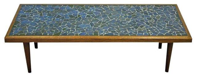 Mid Century Danish Tile Top Coffee Table Mosaic Midcentury Coffee Tables