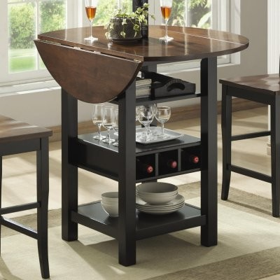 Ridgewood Counter Height Drop Leaf Dining Table With Storage Black Modern Tables By Hayneedle