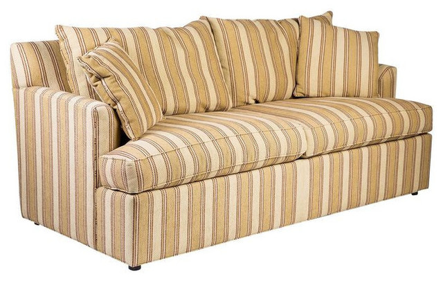 Sold Out Ethan Allen Contemporary Stripe Sofa 3 250