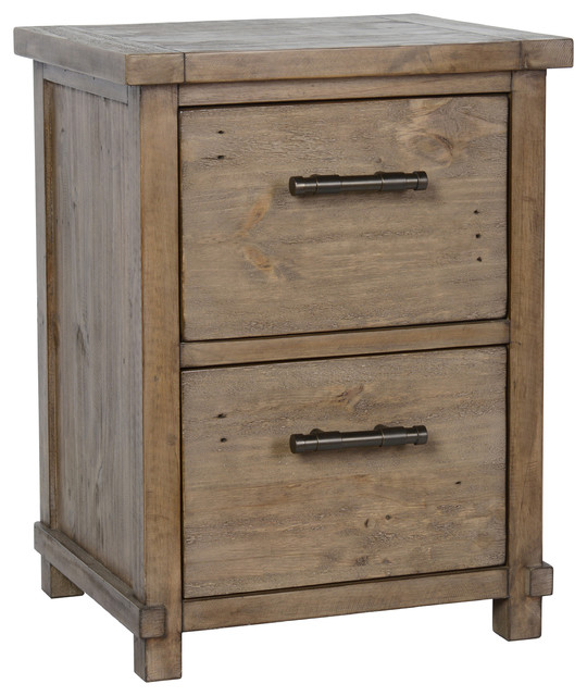 Fargo Pine 2-Drawer Filing Cabinet.