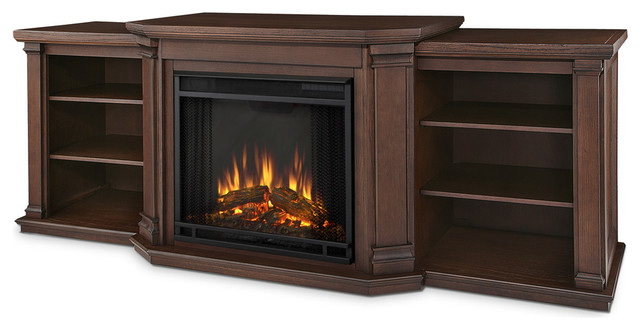 Valmont Entertainment Center Electric Fireplace Modern