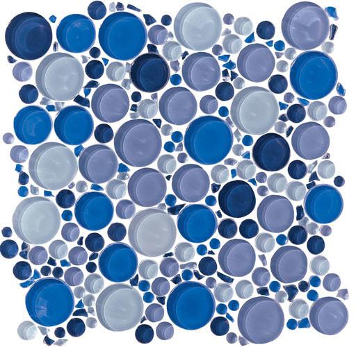 Blue Bubble Glass Tile Zef Jam
