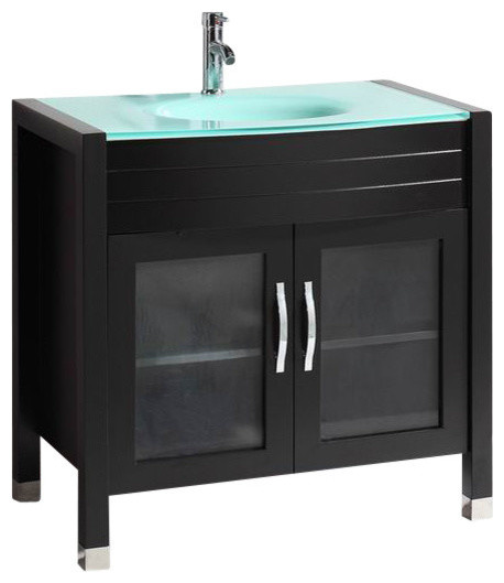 sink top for vanity. Belvedere Bath LLC  Vanity With Tempered Glass Sink Top 36 Bathroom Vanities Houzz