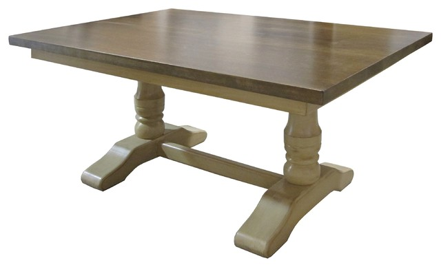 Double Pedestal Trestle Table With X Company Boards - 72 trestle dining table