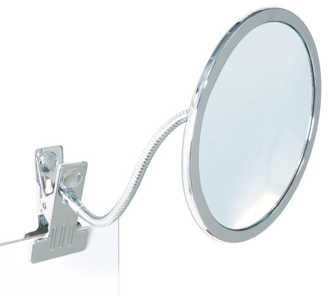 br clamp round flexible arm 5x cosmetic makeup magnifying mirror
