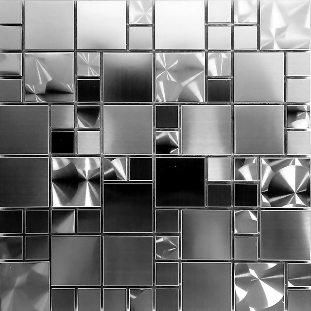 Unique Stainless Steel Mosaic Tile Kitchen Backsplash Bath 12 X12