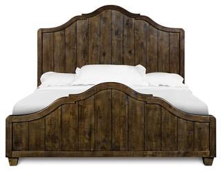 Wooden King Panel Bed Headboard