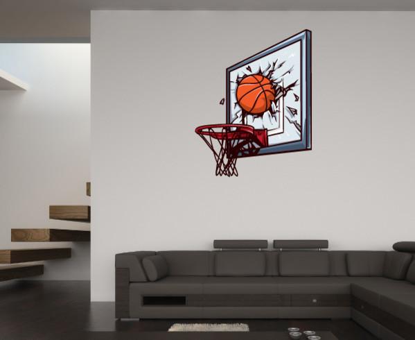 Basketball Vinyl Wall Decal BasketballUScolor010 Contemporary