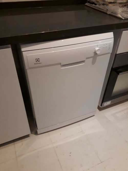 Freestanding Dishwasher In Kitchen Cabinet
