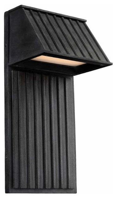 Tove 2-Light Outdoor Wall Lantern, Dark Weathered Zinc.