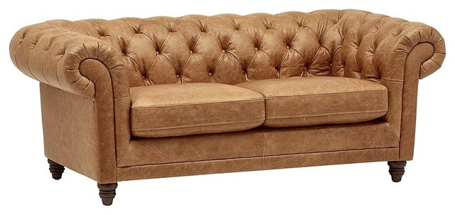 Tremendous Modern Sofa Brown Leather Upholstery With A High Back And Arms Wood Frame 92 9 Theyellowbook Wood Chair Design Ideas Theyellowbookinfo