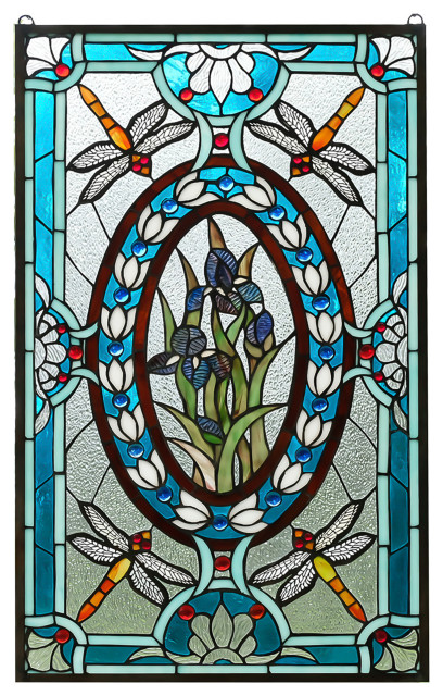 Tiffany Style Stained Glass Window, Victorian Stained Glass Window Panels