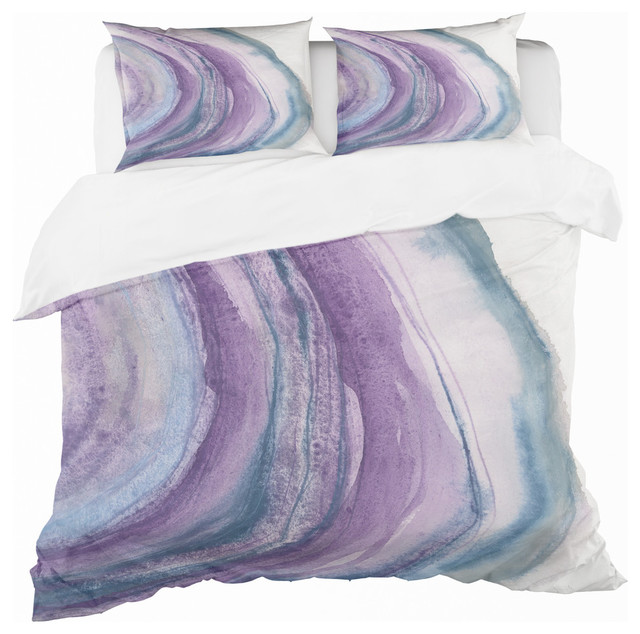 Watercolor Geode I Geometric Duvet Cover Set Contemporary Duvet Covers And Duvet Sets By Design Art Usa