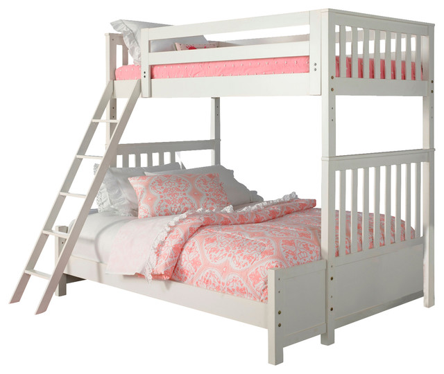 Liberty Arielle Twin Over Full Bunk Bed Antique White Beds