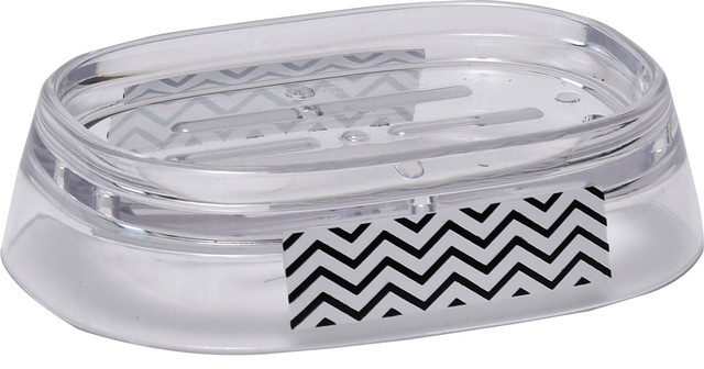 Evideco Bath Counter Top Metal Soap Dish Cup White or Chrome