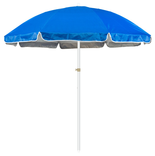 All Things Cedar Teak Umbrella, White