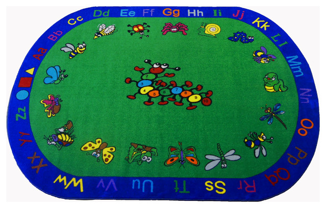 Kritters 1081 8&x27;x10&x27; Children&x27;s Educational And Play Rug.