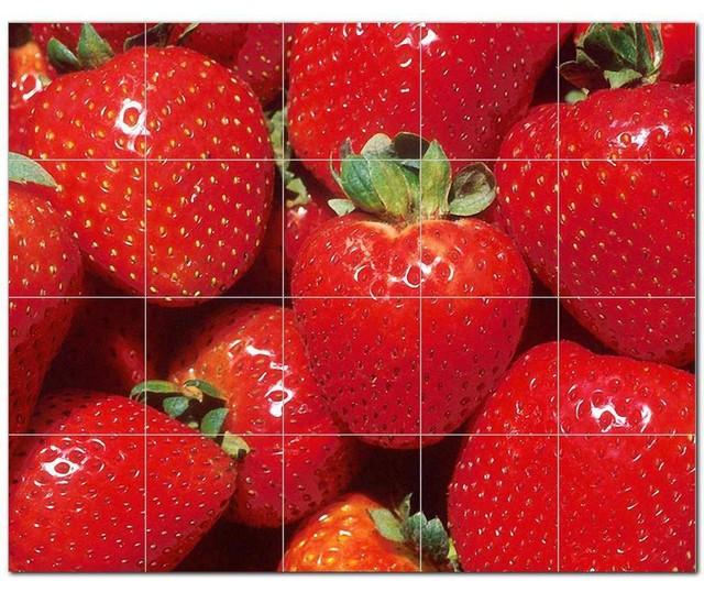 Fruits Vegetables Ceramic Tile Mural Kitchen Backsplash Bathroom Shower, 405233