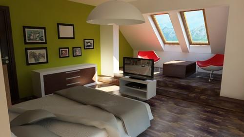 modern bedroom by Catalin David