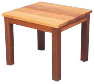 Red Cedar End Table Traditional Outdoor Side Tables