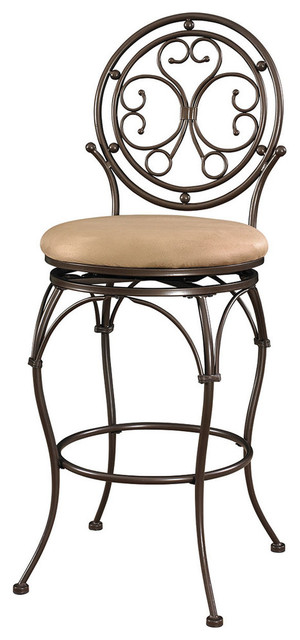 Big And Tall Scroll Circle Back Barstool Mediterranean