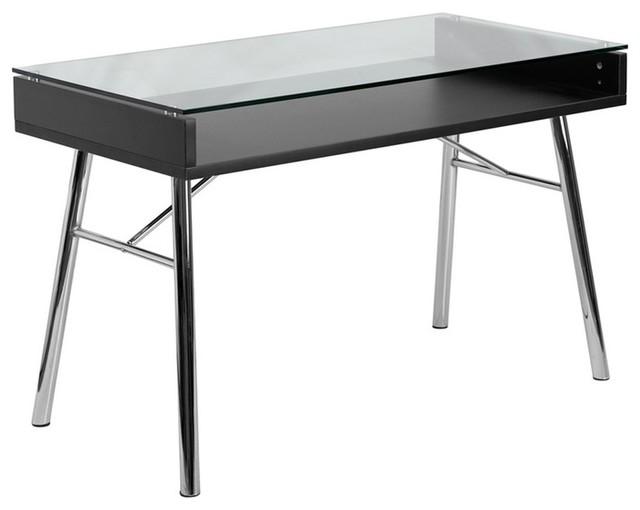 Glass Desk Exclusive Diamond Glass Desk Altra Cruz Cherry