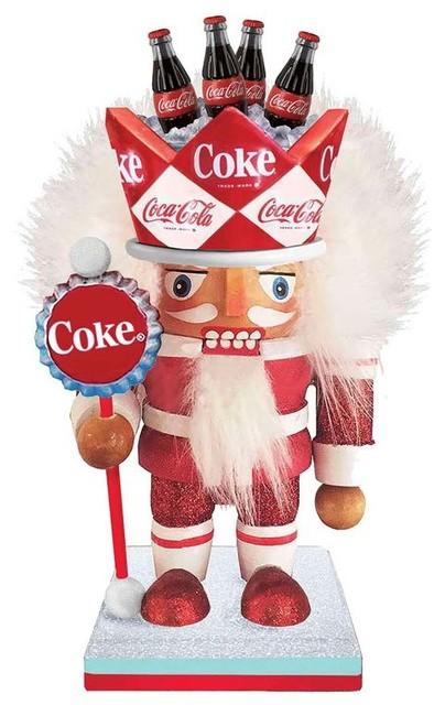 "Kurt Adler Coca-Cola Nutcracker Decor, 8"""