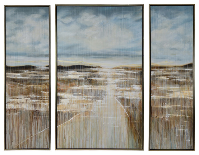 """cedar Lake"" Wall Art, 3-Piece Set."