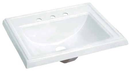 Fauceture Concord Vitreous China Single Bowl Drop-In Lavatory Sink.