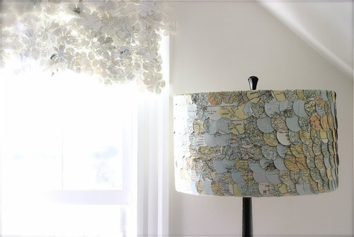 Map Lampshade by ECLU eclectic lamp shades