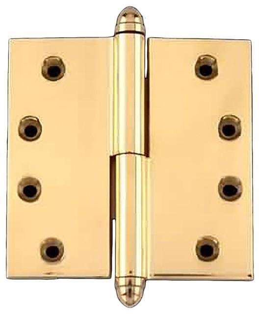 The Renovator's Supply Inc. - 4inch Lift Off Right Brass Door Hinge Vintage Helmet Tip & Reviews ...