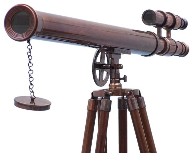 Floor Standing Antique Copper Griffith Astro Telescope 64'', Vintage Telescope