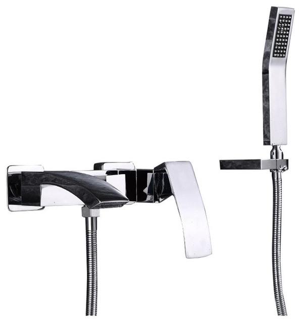 hand held shower for bathtub faucet. Cremona Bathtub Faucet with Hand Held Shower contemporary bathtub faucets  Contemporary