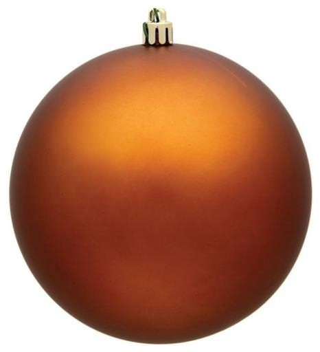 60mm 2 5 Matte Copper Ball Ornament With Wire Uv Coated Contemporary Christmas Ornaments By Queens Of Christmas Houzz